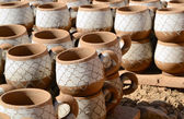 Clay mugs — Stock Photo