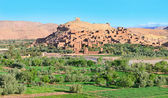 Panorama of fortified city in Morocco — Stock Photo