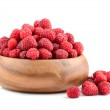 Bowl with raspberries — Stock Photo #50365603