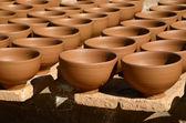 手工制作陶器 — 图库照片