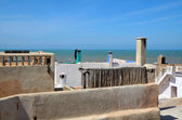 Atlantic ocean from roofs of Essaouira  — Stock Photo