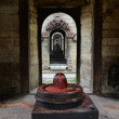 Stone Shiva lingam — Stock Photo
