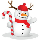 Ridiculous snowman — Stock Vector