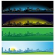Panorama of the city - Stock Vector