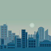 Evening City — Stock Vector