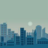 's avonds stad — Stockvector