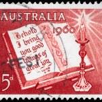 Australia - circa 1960 Biblia abierta — Foto de Stock