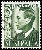 AUSTRALIA - CIRCA 1951 King George VI (dull green) — Stock Photo