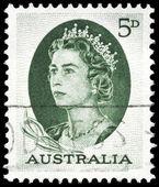 AUSTRALIA - CIRCA 1964 Elizabeth II (green) — Stock Photo