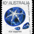 AUSTRALIA - CIRCA 1974 Star sapphire - Stock Photo
