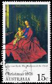 Australien - ca 1978 madonnan och barnet — Stockfoto