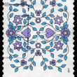AUSTRALIA - CIRCA 2011 Flowers pattern - Lizenzfreies Foto