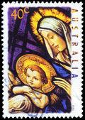 Australien - ca 1995 madonnan och barnet — Stockfoto