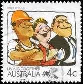 AUSTRALIA - CIRCA 1988 Trade unions — Stock Photo