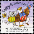 AUSTRALIA - CIRCA 1988 Koala and Eagle - Stock Photo