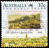 AUSTRALIA - CIRCA 1988 Rocks and Sydney Cove — Stock Photo