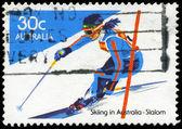 AUSTRALIA - CIRCA 1984 Slalom — Stock Photo