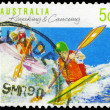 AUSTRALIA - CIRCA 1990 Kayaking and Canoeing — Foto de Stock