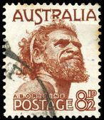 AUSTRALIA - CIRCA 1950 Aborigine — Stock Photo