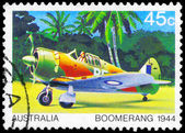 Austrália - circa 1980 bumerangue — Fotografia Stock