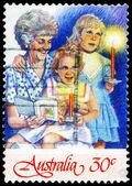 AUSTRALIA - CIRCA 1987 Grandmother and Two Girls — Stock Photo