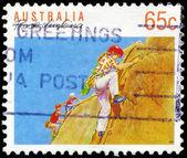 Austrália - circa 1990 escalada em rocha — Foto Stock