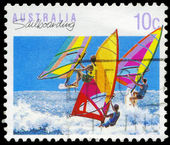 AUSTRALIA - CIRCA 1990 Sailboarding — Stock Photo