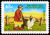 AUSTRALIA - CIRCA 1996 Rose and the Midnight Cat — Stock Photo