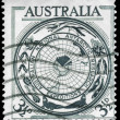 AUSTRALIA - CIRCA 1954 Antarctic Map - Stock Photo