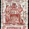 AUSTRALIA - CIRCA 1957 Coat of Arms - Stock Photo