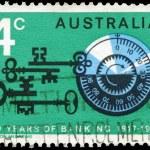 Avustralya - 1967 şifreli kilit yaklaşık — Stok fotoğraf