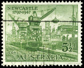AUSTRALIA - CIRCA 1947 Loading Coal — Stock Photo