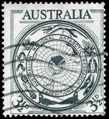AUSTRALIA - CIRCA 1954 Antarctic Map — Stock Photo