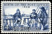 AUSTRALIA - CIRCA 1959 Postmaster Isaac Nichols — Stock Photo