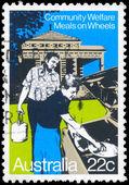 AUSTRALIA - CIRCA 1980 Meals on Wheels — Stock Photo