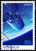 AUSTRALIA - CIRCA 1986 Satellite in Orbit — Stock Photo