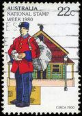AUSTRALIA - CIRCA 1980 Postman — Stock Photo