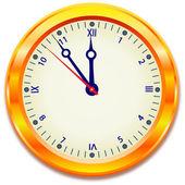 Gold clock — Stock Vector