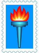 Torch stamp — Stock Vector