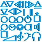 Recorder symbols set — Stock Vector