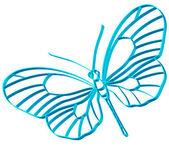 Motýl symbol — Stock vektor
