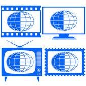 Globe icon set — Stock Vector