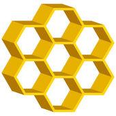 Honingraat symbool — Stockvector