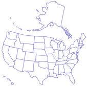 USA Map — Cтоковый вектор