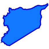 Mapa de siria — Vector de stock