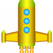 Rocket icon for various design — Stok Vektör