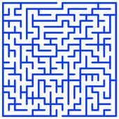 Illustration of the maze for leisure — Stock Vector
