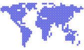 Världskarta — Stockvektor