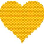 Honeycomb heart — Stock Vector