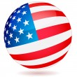 Stock Vector: Spherical Flag of USA